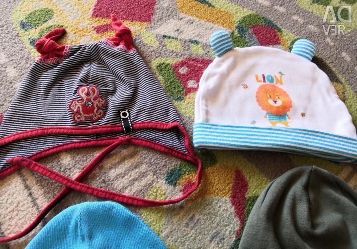 Шапочки ребeнка 1-2 роки