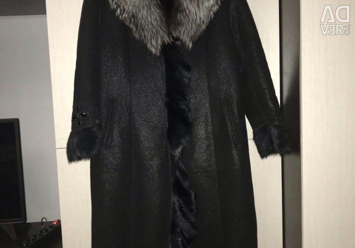 Sheepskin coat natural 50-52