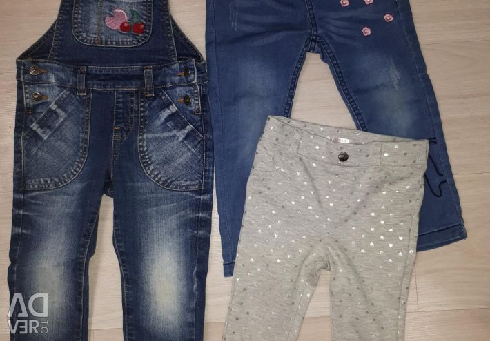 Jeans, Kombenzon for girls 92-98r.