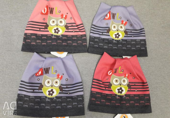 NEW hats for boys and girls from 9 months to 7/8 years.