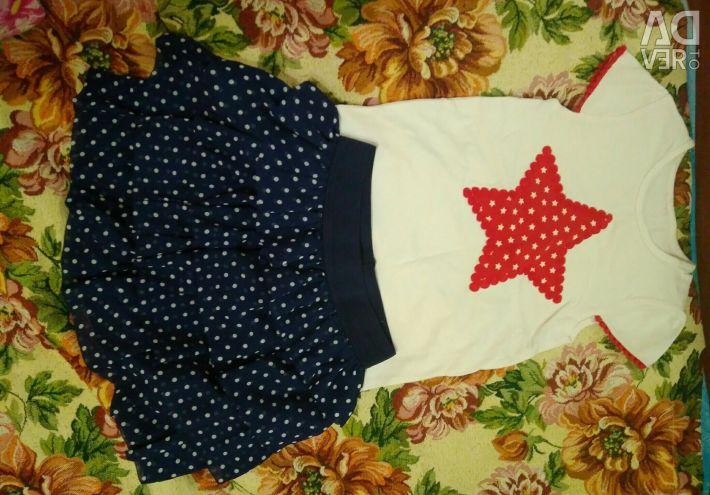 Спідниця і футболка на дівчинку