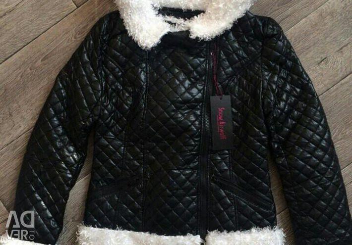 Jacket piele de primăvară adjunct. 48 și 50