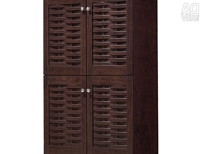 Closet Case with 4 Doors in Wenge 77x34x1