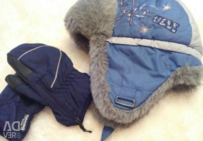 Pălărie de iarnă + mănuși