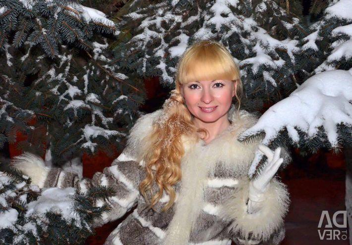 Κούκλα γούνας κουνελιού με λάμα
