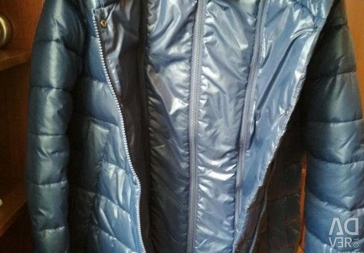 Down jacket half-coat.