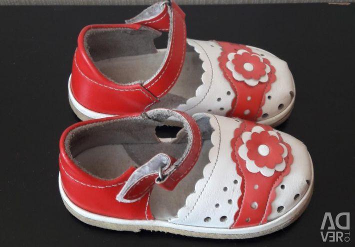 Light summer sandals