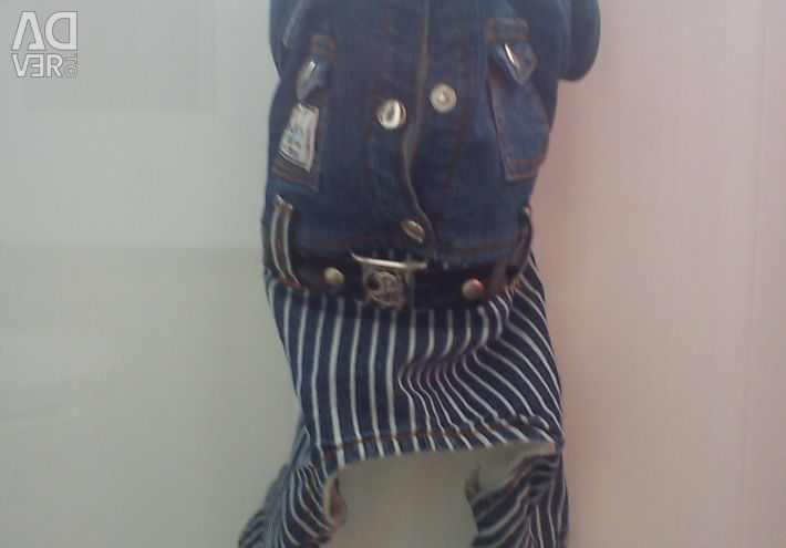 Triol warm denim suit for baby