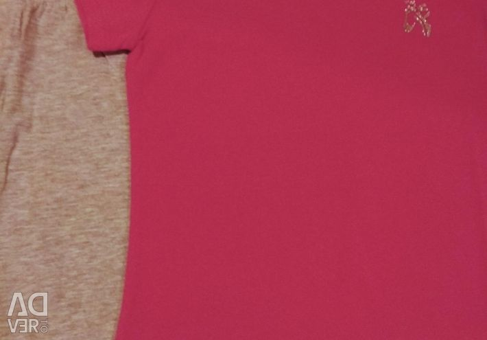 T-shirt, breeches for 128 growth