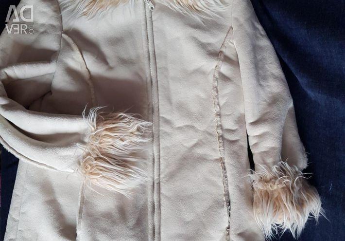 Coat, sheepskin coat