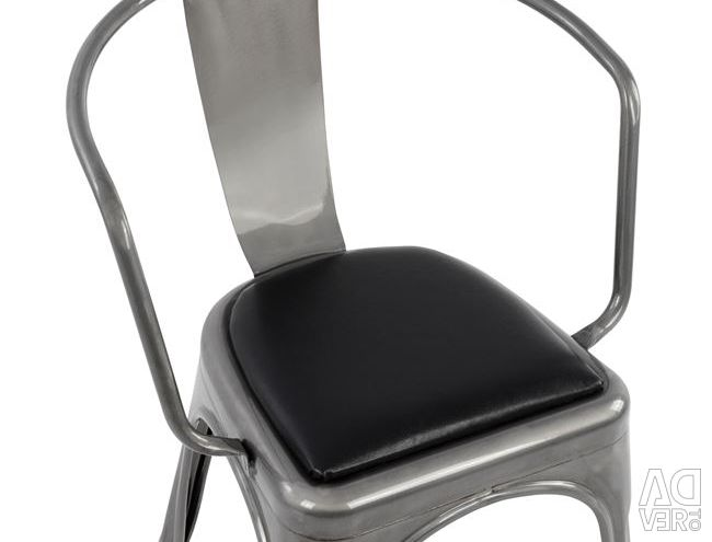 MELITA NATURAL ARMCHAIR & PU SEAT BLACK HM8063