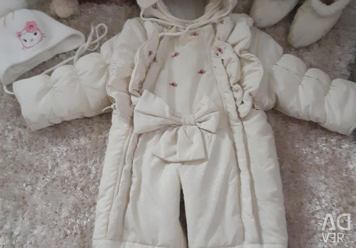 Envelope-overalls with sheepskin support