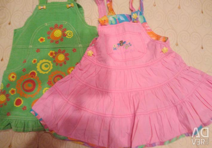 Lucruri pentru haine pentru fetițe pentru prețul grădinii pentru 2 bucăți