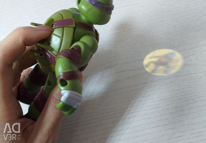 Ninja turtles with light projector