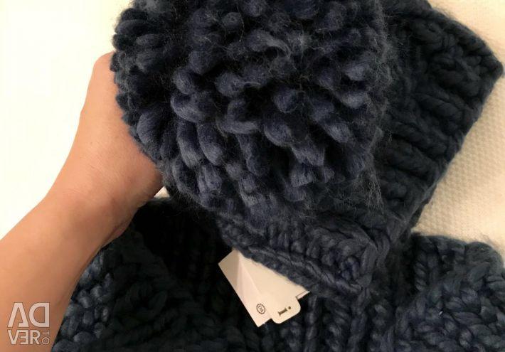 Σετ με καπέλο + κασκόλ (χειμωνιάτικο φουλάρι) χειμώνας καινούριο