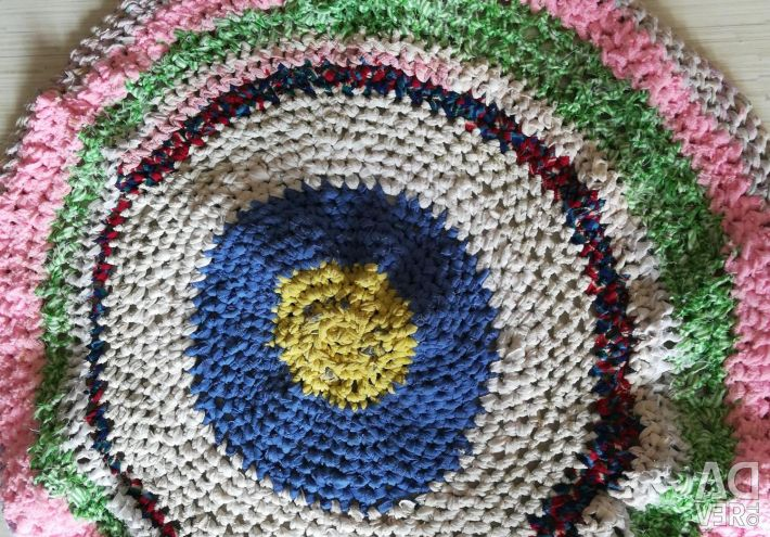 New handmade multi-colored knitted rugs