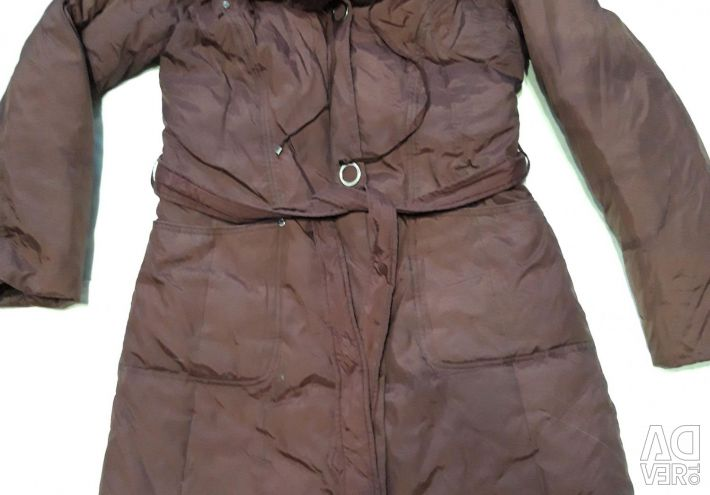 Down jacket with a rabbit collar. !!!