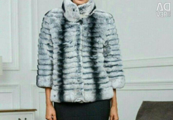 Palton de blană Chinchillas Rex