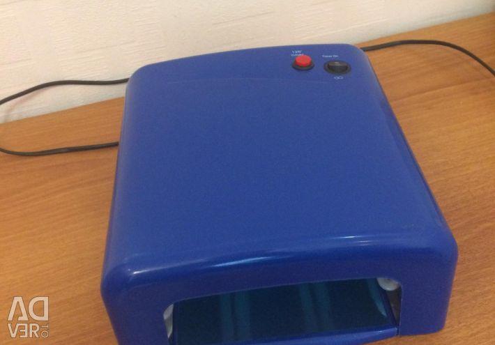 UV lamp for drying gel-varnish
