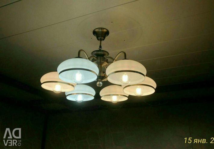 Chandelier and Sconce