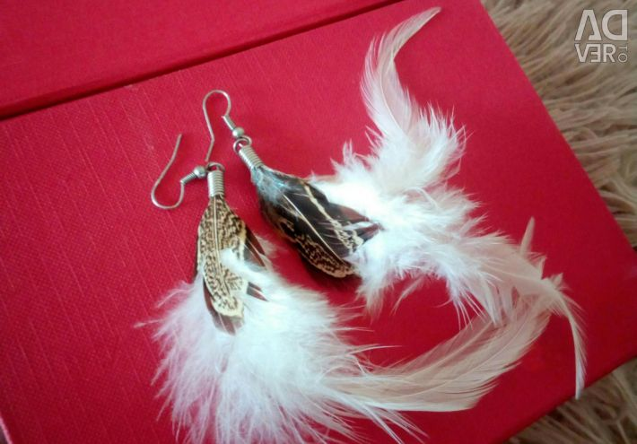 Earring-feathers