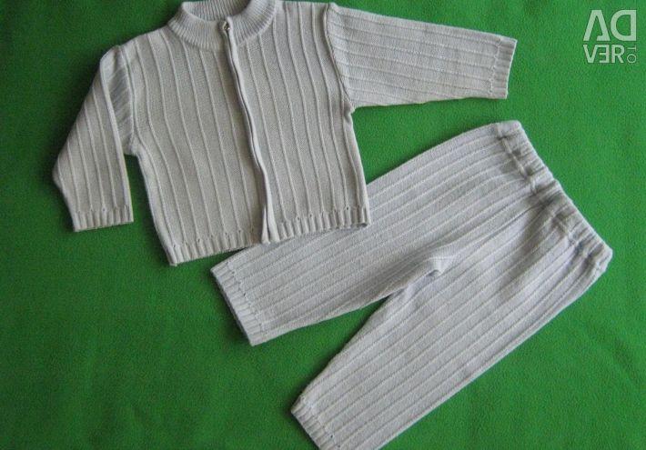 Κοστούμι για παιδικό παντελόνι και πλεκτό παντελόνι 80