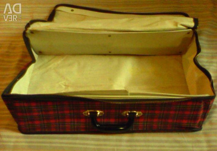 Чемодан тканевый портативный 55х34х14 см