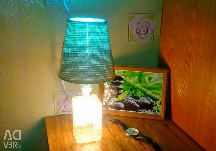 Table lamp from a vintage bottle