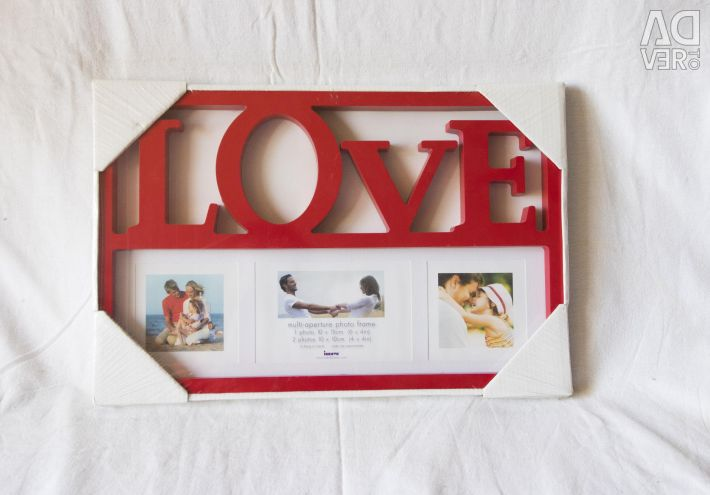 Frame LOVE photo frame red new
