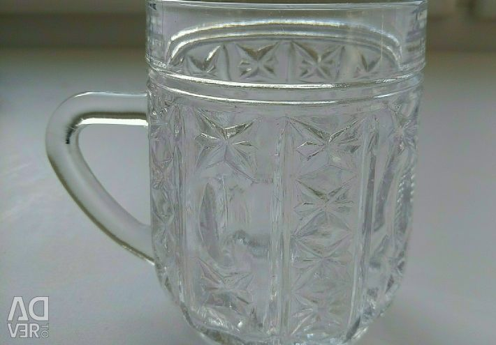 Crystal mugs, USSR.