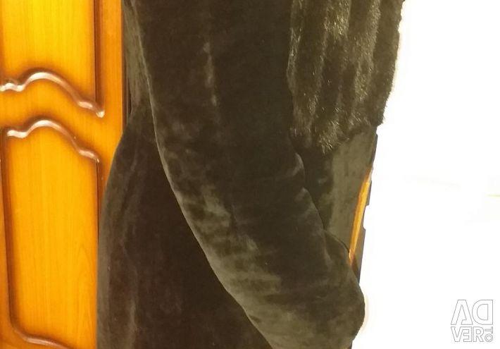 Muton γούνινο παλτό με βιζόν