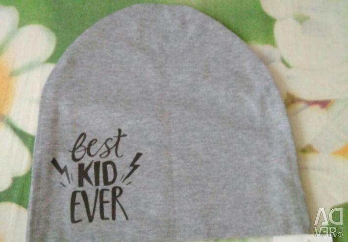 Cap double-layer Best Kid Ever, gray melange