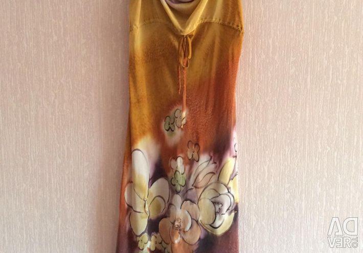 Natural silk batik sundress