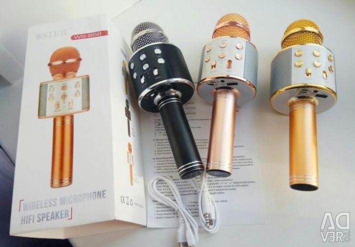 Wireless Karaoke Microphone WST WS-858 Gold
