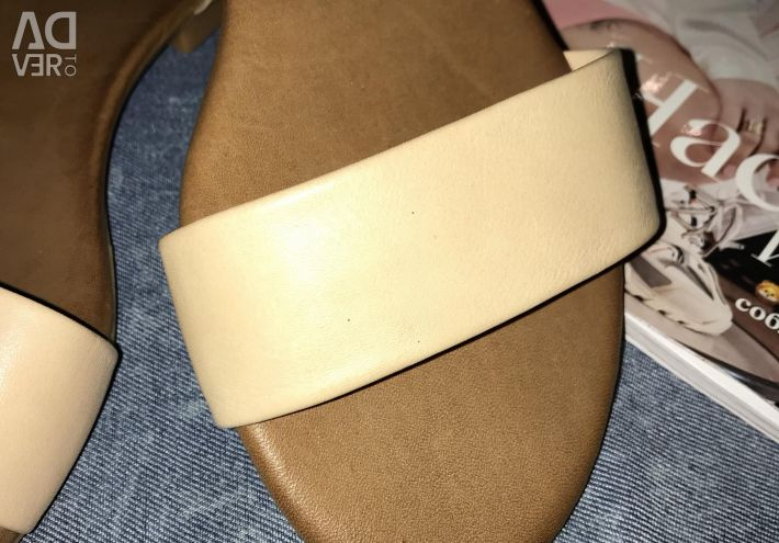 New women's sandals from genuine leather