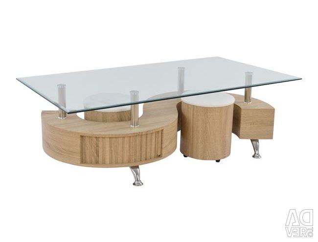 TABLE + 2 SHADE 130X70 DOLLAR HM0016.32 SONAMA