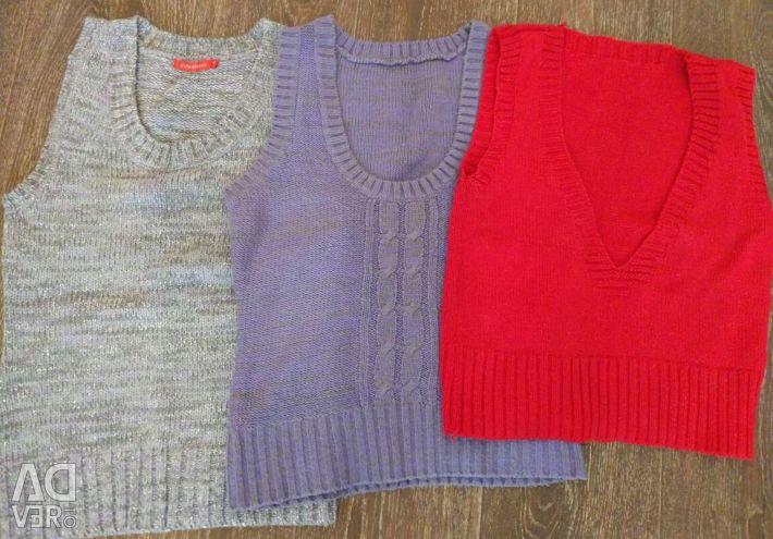 Waistcoats and sweaters