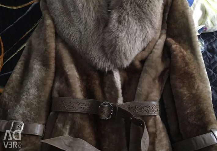 I will sell a mouton fur coat