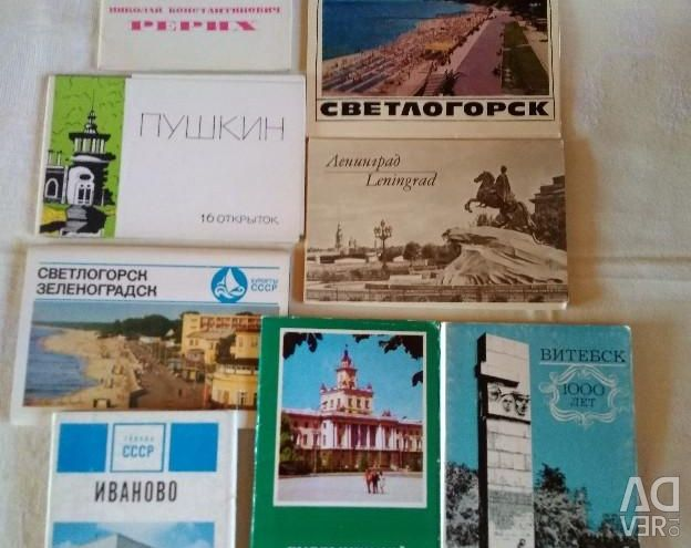 Postcards in thematic sets