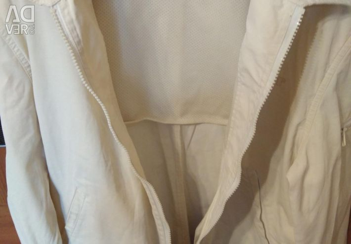 Summer light white jacket with zip pockets