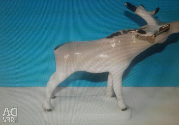 Porcelain figurine Elk