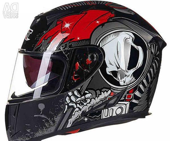 Helmet motorcycle helmet waterproof skeleton