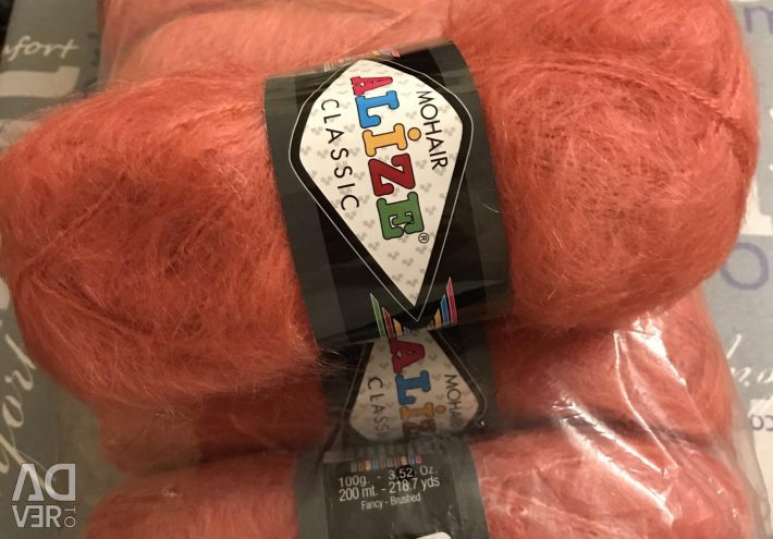 Yarn Alize, Mohair Classic.
