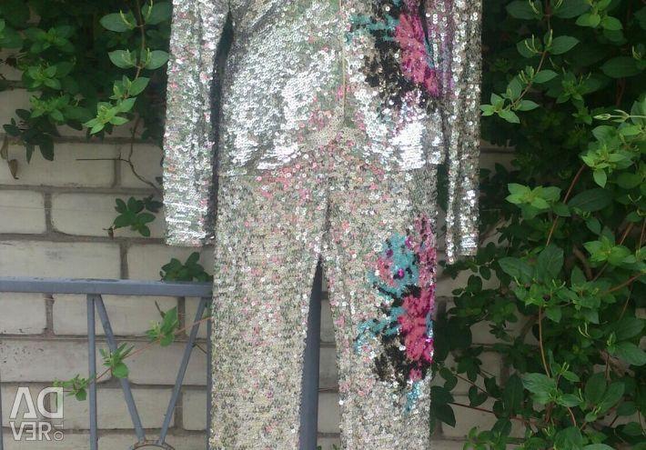 Costum de seară LadyArtigli realizat manual, cu paiete