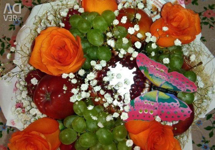 Букети з фруктів, бокси