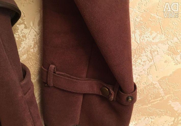 Cloak made suede 42-44 size