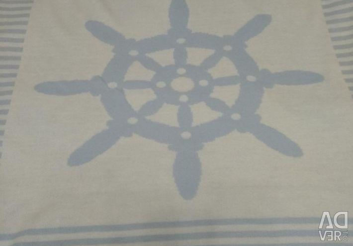 Knitted blanket 90 * 90 small helm, Little Star
