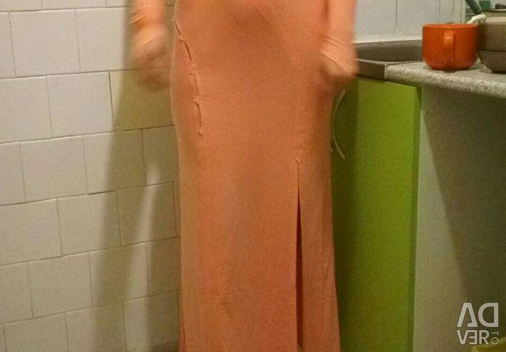 Dress new peach color 42 44 46 size