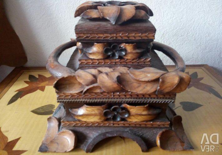 Wooden casket with a secret