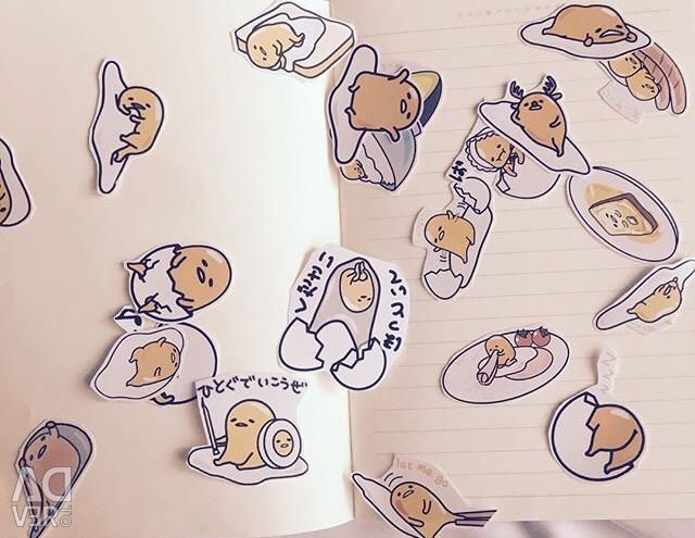 Gudatama Stickers